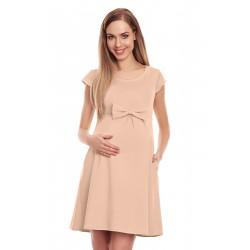Béžové tehotenské šaty s...