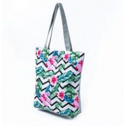 Kvetovaná plážová kabelka...