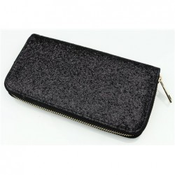 Čierna trblietavá peňaženka