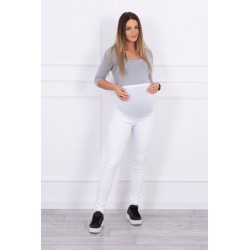 Biele tehotenské nohavice