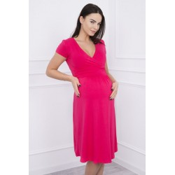 Fuchsiove tehotenské šaty