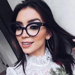 Štýlové okuliare s čírymi...