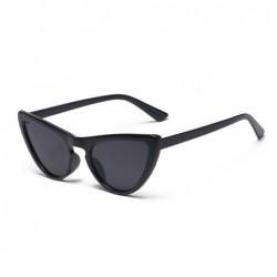Lesklé čierne cat eye okuliare