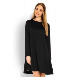 Čierne šaty s voľným...