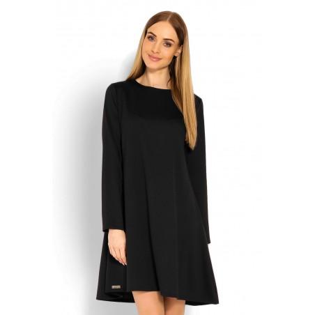 Čierne šaty s voľným strihom PeeKaBoo