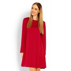 Červené šaty s voľným...