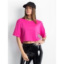 Ružový top s krátkym rukávom