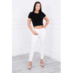 Biele nohavice s mašľou