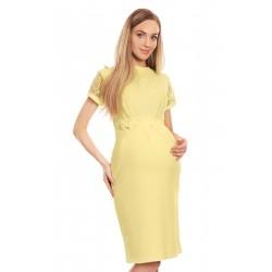 Žlté tehotenské šaty s...