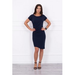 Modré skladané šaty
