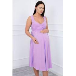 Fialové tehotenské šaty so...