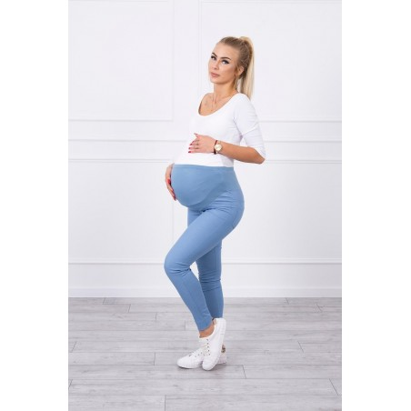 Modré tehotenské nohavice