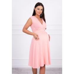 Lososové tehotenské šaty...
