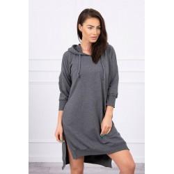 Dlhá mikina-šaty s kapucňou