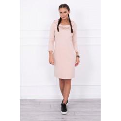 Púdrovo ružové šaty s...