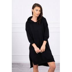 Čierna oversize mikina/šaty...