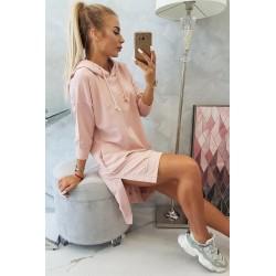Ružová oversize mikina/šaty...