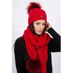 Komplet-Červená čiapka a...