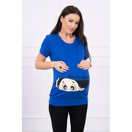 Modré mamičkovske/tehotenské tričko