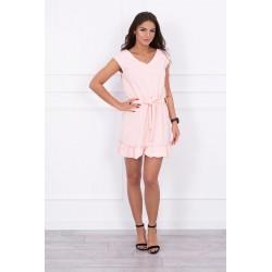 Ružové šaty s volánikom