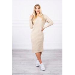 Dlhý pruhovaný sveter/šaty...