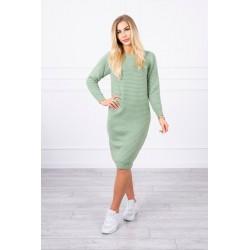 Svetlozelený dlhý sveter/šaty