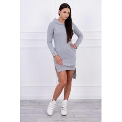 Sivé teplákové šaty