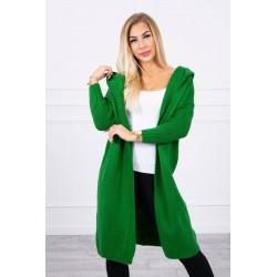 Dlhý zelený pletený...