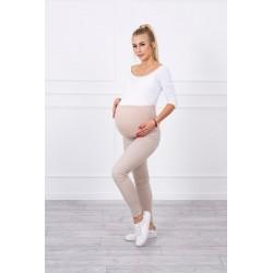 Béžové tehotenské nohavice