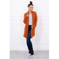 Hnedý pletený sveter