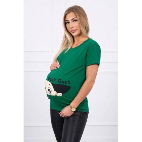 Zelené mamičkovské/tehotenské tričko