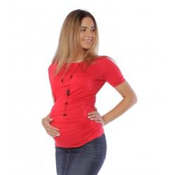 Červené tehotenské tričko...