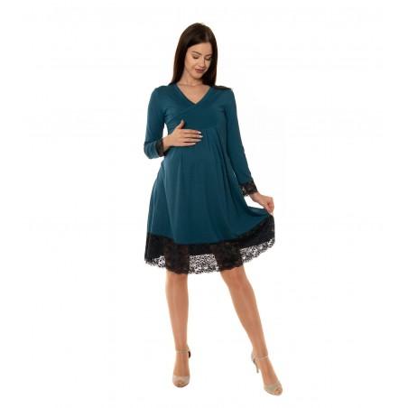 Tehotenské šaty s čipkou Flared