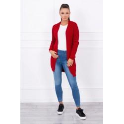 Červený pletený sveter