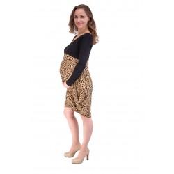 Tehotenské šaty s leopardím...