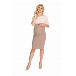 Béžová tehotenská sukňa...