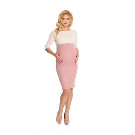 Púdrovo ružová tehotenská sukňa PeeKaBoo