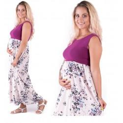 Dlhé tehotenské šaty Violetta