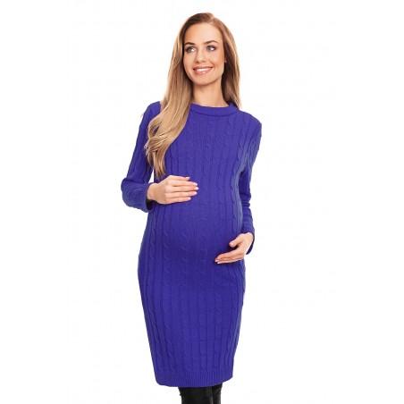 Fialové tehotenské pletené šaty PeeKaboo