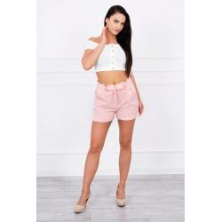 Ružové šortky s opaskom