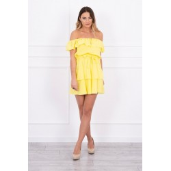 Žlté španielske šaty