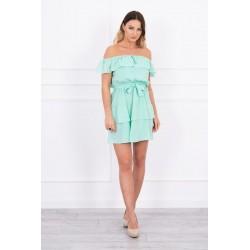 Svetlozelené španielske šaty