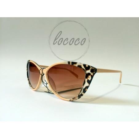 Dámske béžové okuliare s tigrovaným vzorom