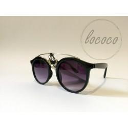 Čierne dámske okuliare s...