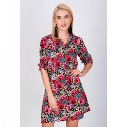 Červené kvetinové šaty