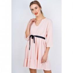 Ružové volánikove šaty s...