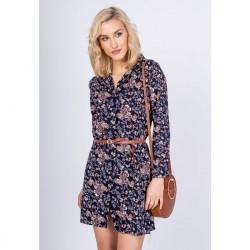 Kvetované košeľové šaty