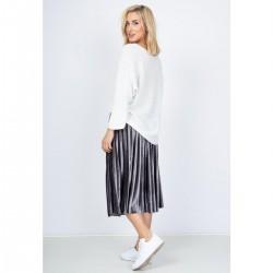 Sivá plisovaná sukňa s...