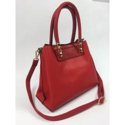 Červená kabelka so zlatým...