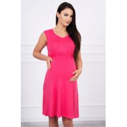 Ružové tehotenské šaty na...